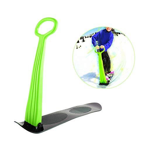 Schneeroller, Ski Schlitten Faltbare Snowboard im Freien Spielzeug,Grün