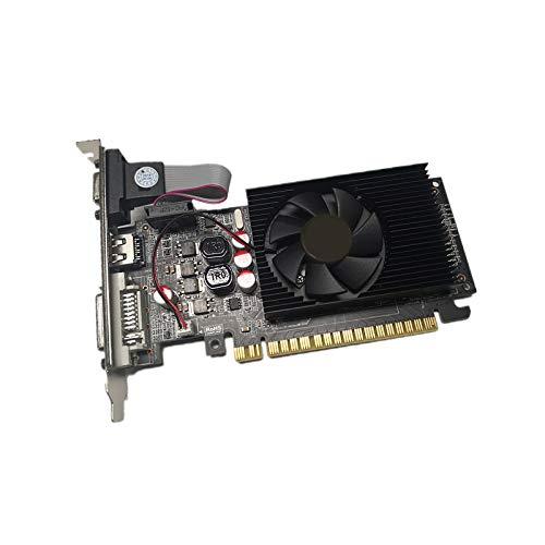Fuobecie Gt730 Bildkarte Grafikkarte, HDMI-Schnittstelle 2 GB 64-Bit-Ddr3-Spiel Grafikkarte DVI- und VGA-Schnittstellen für PC-Desktop-Computer