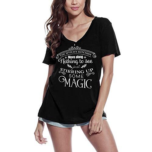Ultrabasic Camiseta de manga corta para mujer The Witch's Kitchen - negro - Large
