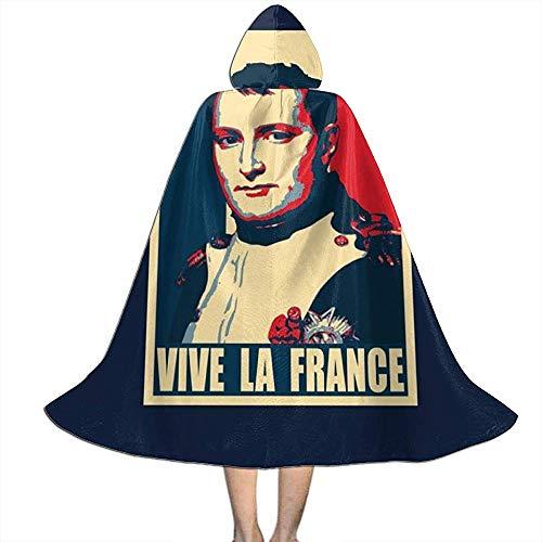 Napoleon Vive Le France Vampier-omhanging, niet-toepasbare heksen-omhanging, luxe capuchon voor volwassenen, Halloween, partydecoratie, outwear, heksen toveringsgordel