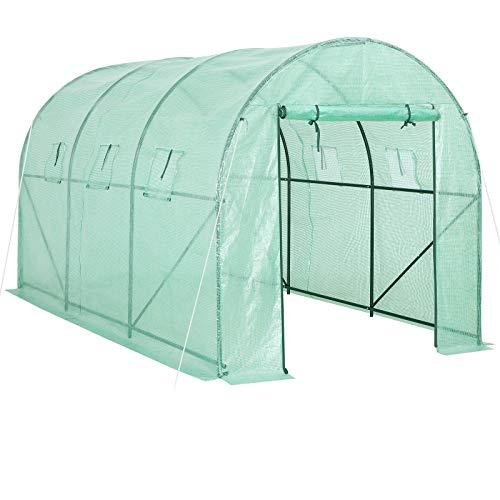 Gardebruk Invernadero de jardín huerto tipo túnel 7 m² vivero exterior 350x200x200cm para plantas verduras sembrado