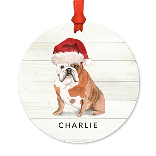 Andaz Press Personalized Dog Christmas Ornament