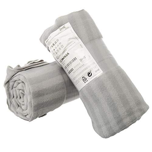 Ikea VITMOSSA - Juego de 2 mantas de forro polar para sofá (120 x 160 cm), color gris