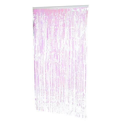 Alvinlite Decoración de la Cortina de la Puerta de la Borla Hermosa decoración de Cortinas de plástico para la celebración de la Boda Fiesta de cumpleaños 3.28ftx5.9ft