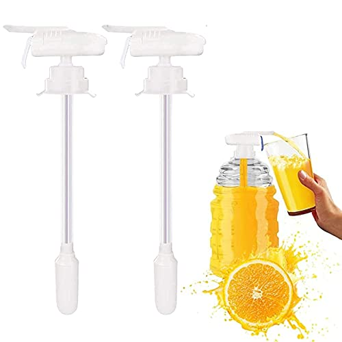 Yagerod 2 Pcs Magic Tap Drink Dispenser, Automatic Drink Dispenser, Drinks Suck Tools, Portable Electric Milk Juice Beer Beverage Dispenser for Outdoor Home Kitchen (White)