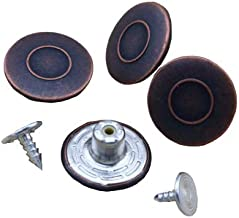 G-Sunny 12 Sets 18mm Jeans Buttons Metal Button Snap Buttons Replacement Kit with Rivets and Plastic Storage Box (Red Bronze)