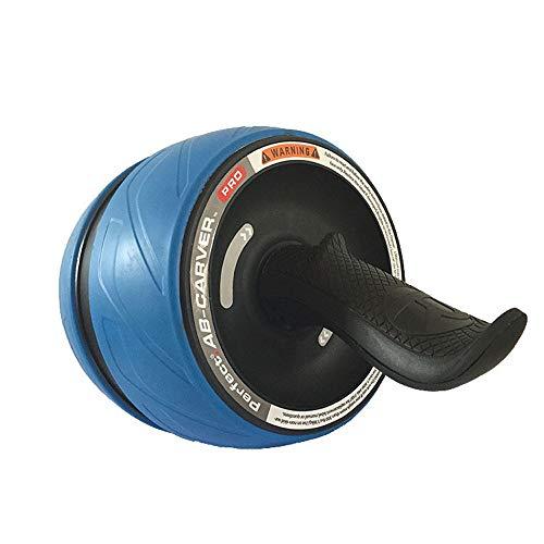 MIIGA Bauchtraining Bauchtrainer Rolle mit Rückholfeder Bauchmuskeltrainer Fitness-Training für Bauch Rücken und Schulterbereich inklusive Knieschoner BR-102 (Blau)