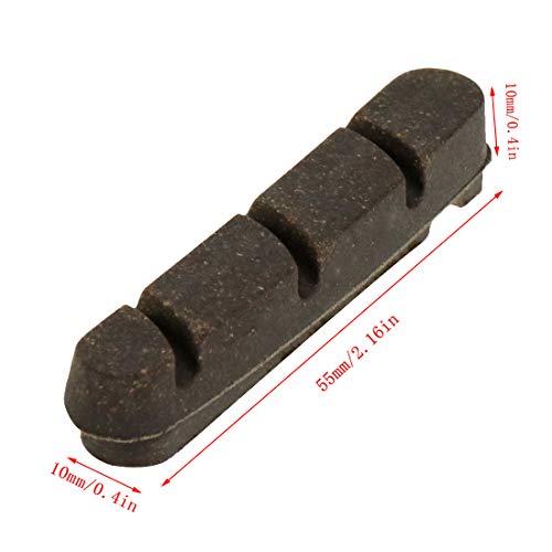Meprotal 2pcs Bike Brake Pads Carbon Rim Use Replacement Pads, Brown