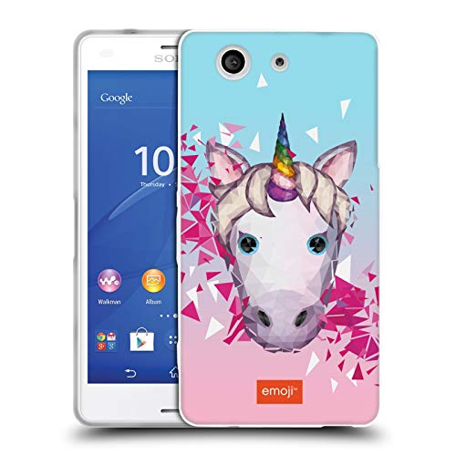 Head Case Designs Offizielle Emoji® Unicorn Vieleck Soft Gel Huelle kompatibel mit Sony Xperia Z3 Compact / D5803