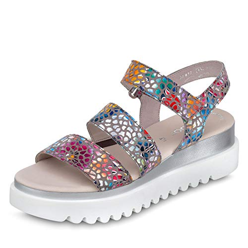 Gabor Damen Sandalette Größe 38 EU Beige (beige)