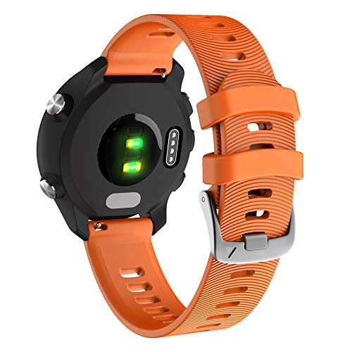 YOOSIDE für Garmin Vivoactive 3 Armband,20mm Silikon wasserdicht Ersatzarmband Uhrenarmband für Garmin Vivoactive 3 Music, Forerunner 645/645 Music,Vivomove HR (Orange)