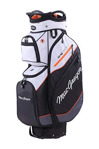 "MacGregor Golf MACTEC 14,0 Golf Club Cart Bag, 10\"" , Silber / Schwarz / Orange"