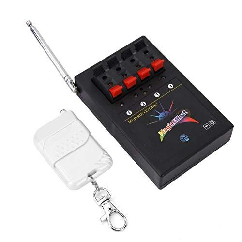 Control Remoto inalámbrico Sistema de Disparo de Fuegos Artificiales electrónicos Control Remoto inalámbrico Sistema electrónico de Fuegos Artificiales de 4 vías Interruptor de Encendido