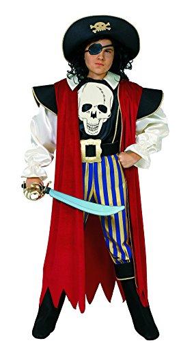 Ciao-Pirata Capitan Morgan costume bambino (8-10 anni), Multicolore, 11530.8-10