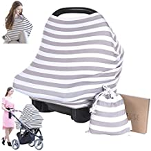 Carseat Canopy Cover - Baby Car Seat Canopy KeaBabies - All-in-1 Nursing Breastfeeding Covers Up - Baby Car Seat Canopies for Boys, Girls - Stroller Covers - Shopping Cart Cover
