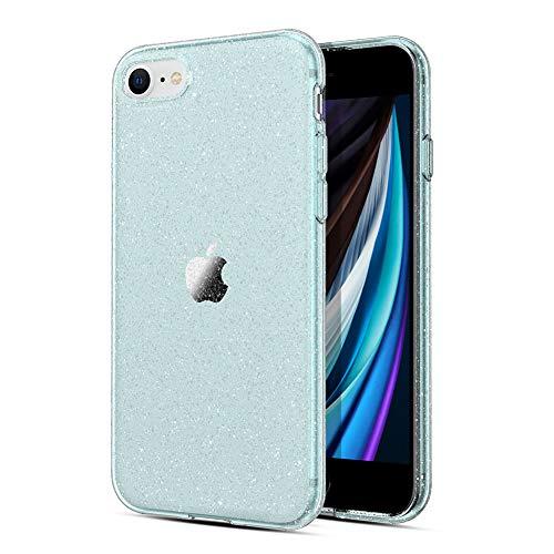 """ORNARTO Glitter Funda para Nuevo iPhone SE 2020, Sparkly Bling Carcasa de TPU Protectora para el Nuevo Apple iPhone 7/8/ SE (2020) 4.7 """"-Verde"""