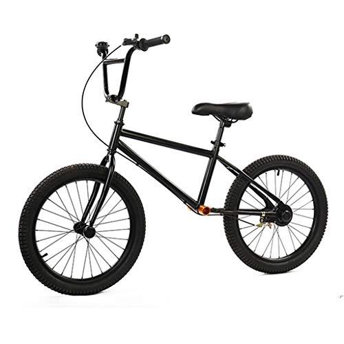 Bicicleta sin pedales bici Neumático neumático de 50 cm (20 pulgadas) de la bicicleta de equilibrio - Bicicleta de entrenamiento sin pedales para adultos de color negro con freno de mano, rega