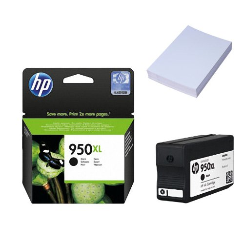 1x Original Tintenpatrone für HP Hewlett Packard Officejet PRO 8100 Eprinter HP 950xl HP950xl CN045AE - BLACK