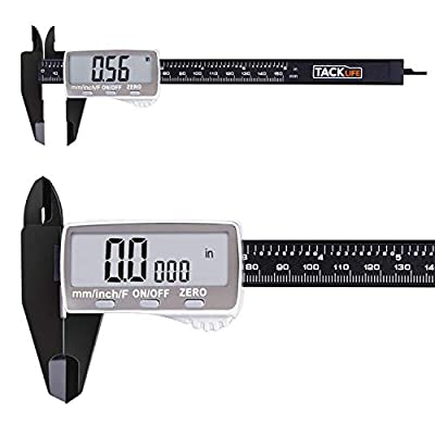 Tacklife DC01 Digital Caliper 6 Inch with 2 inches Wide Super Clear Display Inch/Fractions/Millimeter Conversion