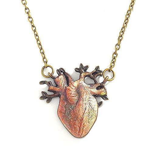 Retro tree root Necklace bronze three-dimensional Tree Pendant Necklace Heart Necklace