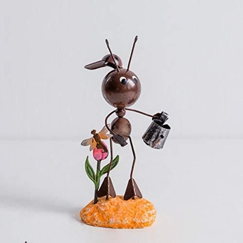 hacxiaoming standbeelden creatieve schattige moderne metalen dieren ambachten huisdecoratie kantoor decoratie moderne stijl en creatieve decoratieve elementen water geven mier