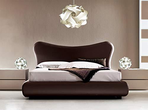 Bellissimo Set illuminazione moderna camera da letto LAMPADARIO design moderno UFO 50 cm + 2 FIOCCO lampade da comodino comò Abat jour di design Bianche luce fredda led puzzle
