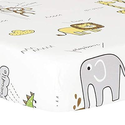 TILLYOU Dinosaur Cotton Crib Sheets