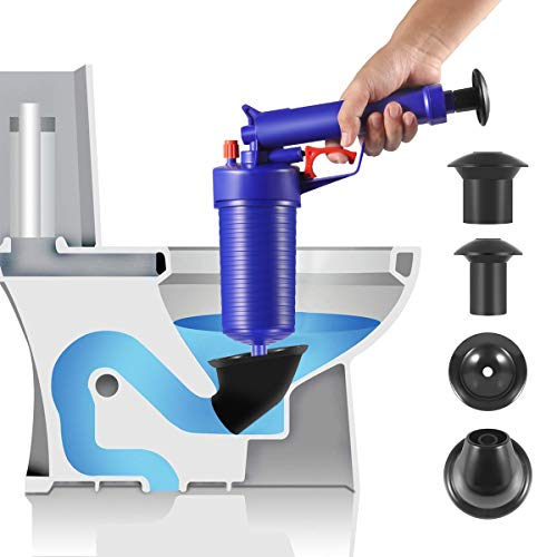 Toilet Plunger, Air Drain Blaster, Pressure Pump Cleaner, High Pressure Plunger Opener Cleaner Pump for Bath Toilets, Bathroom, Shower, Sink, Bathtub, Kitchen Clogged Pipe