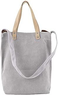 TOOGOO Japanese Small Fresh Canvas Shoulder Bag Korean Students Harajuku Messenger Bag Ins Simple Casual Wild Tote Bag Black