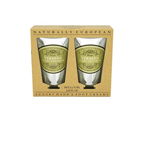 Naturally European Verbena Luxury Hand & Foot Cream Gift Set Collection 2 X 75ml