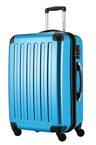 HAUPTSTADTKOFFER, Valigia Rigida Alex, TSA, Taglia 65 cm, 74 Litri, Blu Cyan