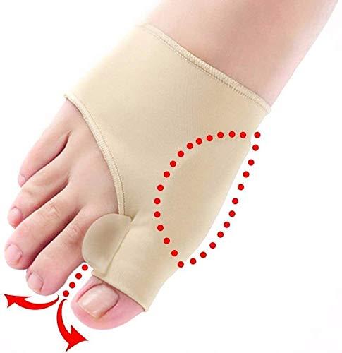 For alisadores del dedo del pie, cómodo for el Protector suave enderezadora del dedo del pie de silicona del dedo del pie Separador for Corrector Pulgar for el hallux del pie ayuda del apoyo Separador