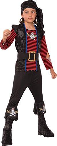 Rubies - Disfraz de Pirata Bribón para niños, talla 7-8 años (Rubies 630938-L)
