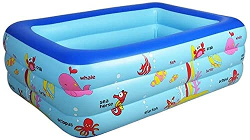 Piscinas Portátil Inflable Baño Verano Niños Juega Ocean Ball Pool Niños Adultos Exteriores al Aire Libre XMJ (Color : Blue, Size : 150cm)