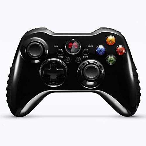 WEIFLY Controlador de Juego USB, Gamepad para PC/Ordenador portátil (Windows XP / 7/8/10) y PS3 && Vapor - [Negro],(Wired Version)