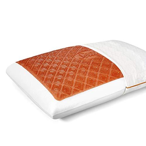 Sealy Copper SealyChill Gel Memory Foam Standard Size Bed Pillow, White
