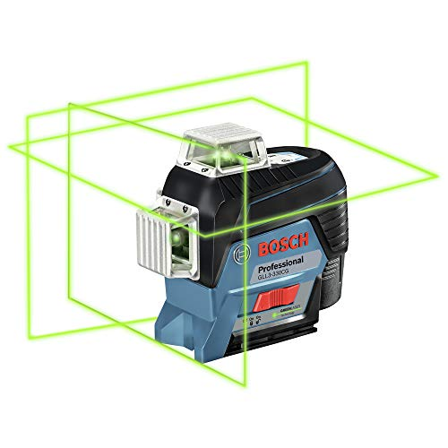 Bosch GLL3-330CG-RT 360-Degrees Connected Green-Beam Three-Plane Leveling and Alignment-Line Laser (Renewed)