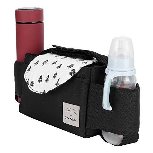 Portavasos para cochecito de bebé, organizador ligero para cochecito de bebé, tazas de paja para guardar pañales carteras (árbol pequeño)
