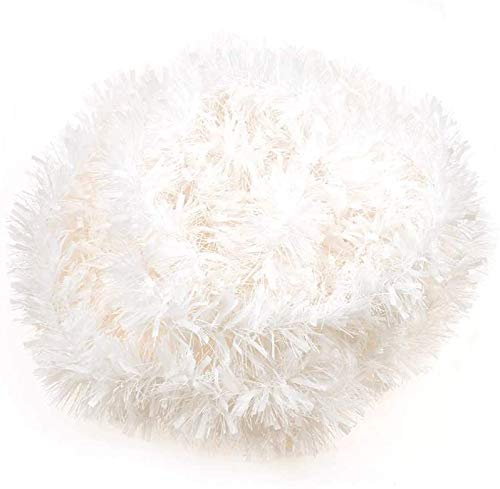 CCINEE 33FT Christmas Tinsel Garland,White Metallic Garland for Christmas Tree Party Indoor Outdoor Decoration