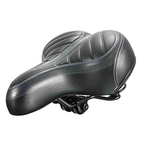 Asiento de Gel para Bicicleta MTB Road PU Base de Acero Espuma Suave y Gruesa Ancho Big Bum Bicicleta Ciclismo Gel Cruiser Extra Comfort Deportivo Soft Pad Saddle Seat Sillines de Bicicleta, Mejora