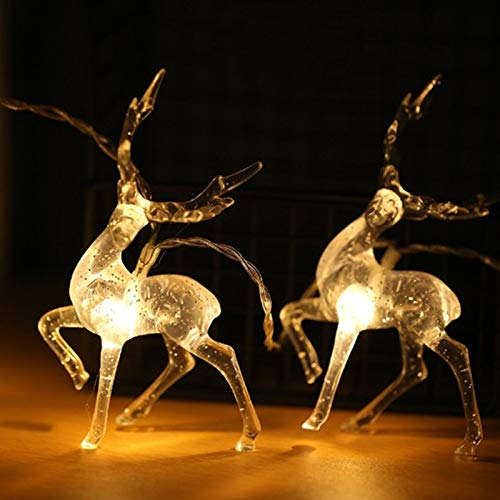 Luces de Navidad Luces de caja de batería LED de ciervo Sika Luces decorativas festivas Luces de cadena