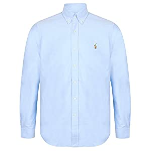 Polo Ralph Lauren Camicia In Popeline a Tinta Unita Uomo Mod ...
