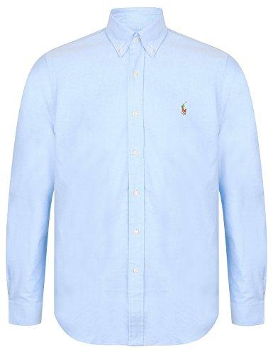 Ralph Lauren Polo de camiseta Oxford, ajuste estándar para hombre, azul, S