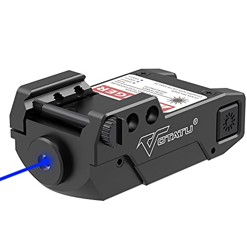 Votatu H3L-B Blue Laser Sight, Ultra Low Profile Blue Dot Sight for Pistol Handgun Rifle, Magnetic USB Charging and Ambidextrous Switches