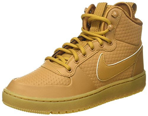 Nike Herren Court Borough Mid Winter Fitnessschuhe, Braun (Wheat/Wheat-Black-Gum Light Brown), 40.5 EU
