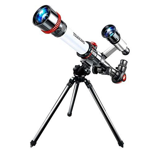 Adultos niños telescopio monocular de pie 50 mm refractor con visor y trípode telescopio astronómico mejor telescopio portátil regalo para principiantes para observación espacial observación de es