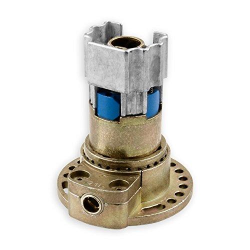 DIWARO® K007 Rolladengetriebe | Untersetzung 2:1 links | Antrieb 6mm Innenvierkant | mit Zapfen | Kurbelgetriebe, Kegelradgetriebe für 40,5 mm Kittelbergerwelle