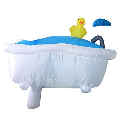 Colcolo Disfraz Inflable Tamaño Adulto Bañera Calzado con Ventilador