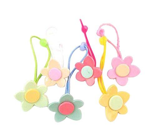 12 pièces Jolie corde de cheveux bande de cheveux Accessoires pour les filles, fleurs