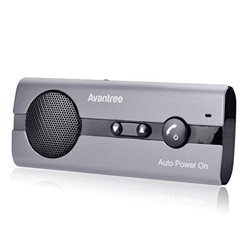Avantree 10BS Freisprechanlage für Auto Bluetooth mit Auto Power On Bewegungssensoren, Wireless In-Car Freisprecheinrichtung Sonnenblenden Kfz Kit, Unterstützt GPS, Kompatibel mit iPhone, Samsung
